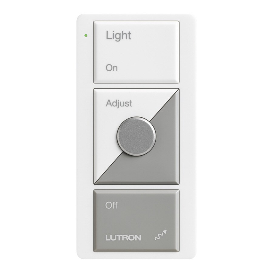 Lutron Maestro Wireless Single Pole Wireless White/Gray Indoor Remote Control Dimmer