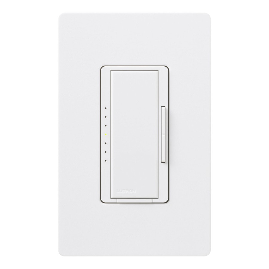 Lutron Maestro 600-Watt 3-Way 4-Way Double Pole Snow Indoor Tap Dimmer