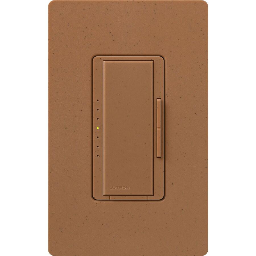 Lutron Maestro 600-Watt 3-Way 4-Way Double Pole Terracotta Indoor Tap Dimmer