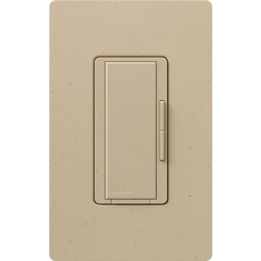 Lutron Maestro 1,000-Watt 3-Way 4-Way Desert Stone Indoor Tap Dimmer