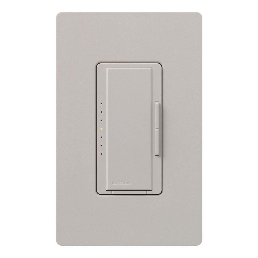 Lutron Maestro 1,000-Watt 3-Way 4-Way Double Pole Taupe Indoor Tap Dimmer