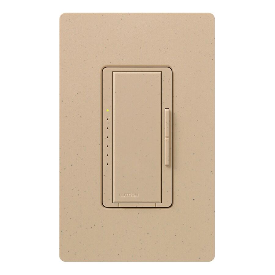 Lutron Maestro 600-Watt 3-Way 4-Way Double Pole Desert Stone Indoor Tap Dimmer