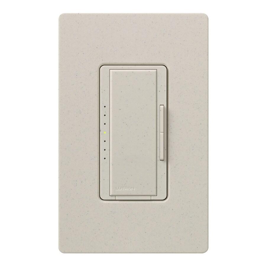Lutron Maestro 800-Watt 3-Way 4-Way Double Pole Limestone Indoor Tap Dimmer