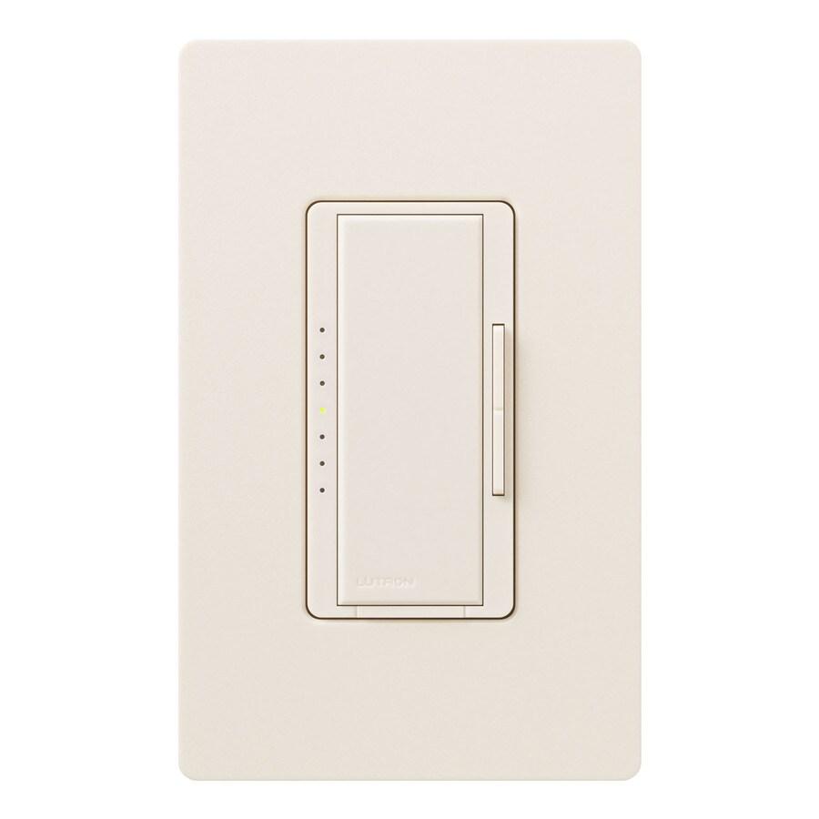 Lutron Maestro 450-Watt 3-Way 4-Way Double Pole Eggshell Indoor Tap Dimmer
