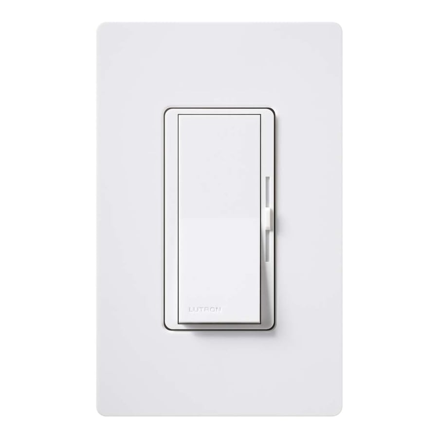 Lutron Diva 150-Watt 3-Way Double Pole White Indoor Slide Dimmer