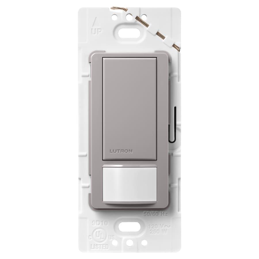 Shop Lutron Maestro 1 Switch 2 Amp Single Pole Gray Indoor Motion Occupancy Vacancy Sensor At