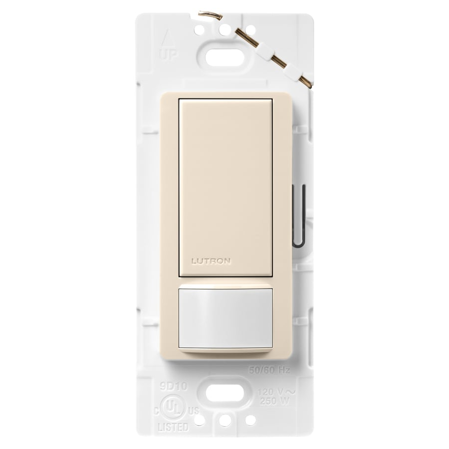 Shop lutron maestro 2 amp single pole light almond indoor motion occupancy vacancy sensor at for Interior motion sensor light switches
