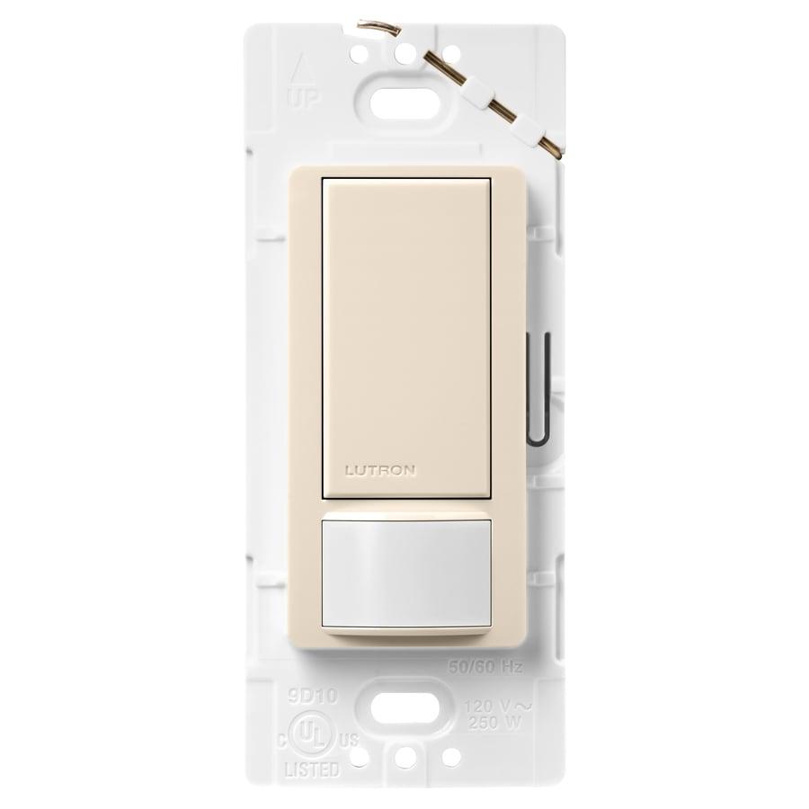 Shop Lutron Maestro 2 Amp Single Pole Light Almond Indoor Motion Occupancy Vacancy Sensor At