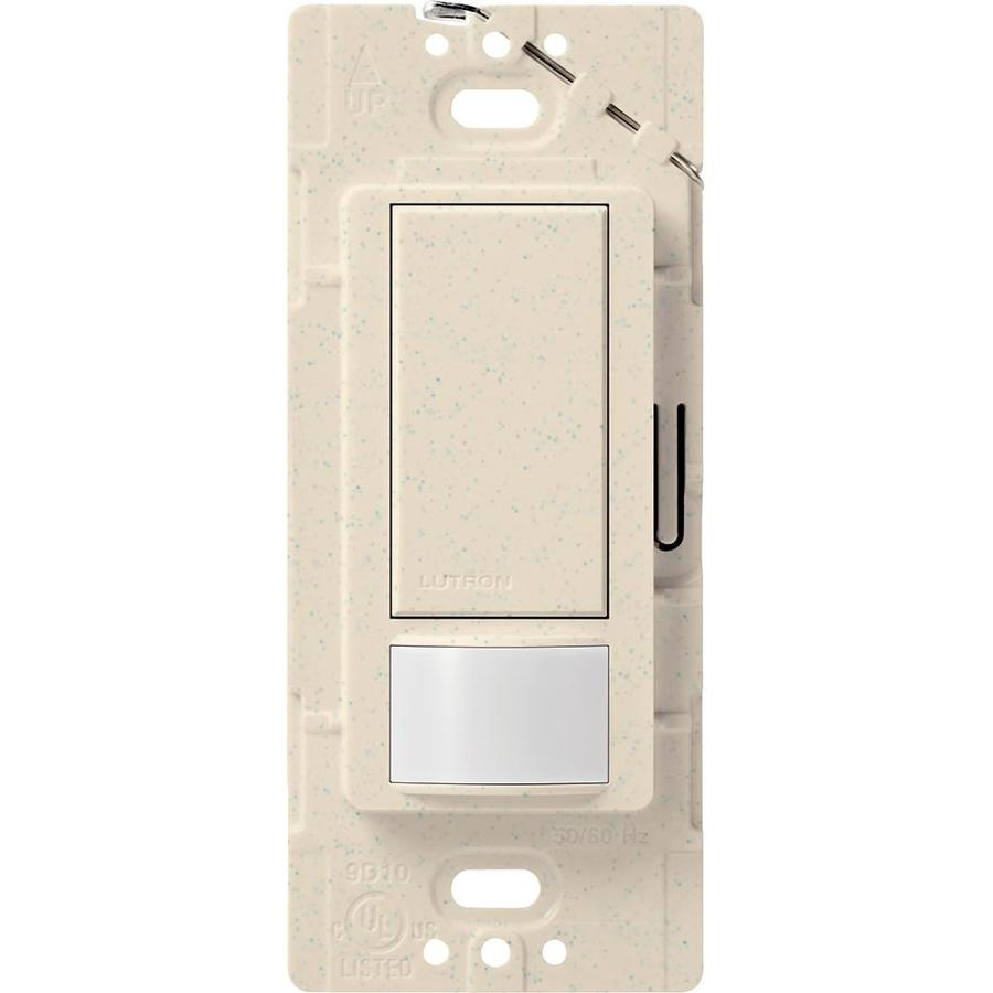 Lutron Maestro 2-Amp Single Pole Limestone Indoor Motion Occupancy/Vacancy Sensor