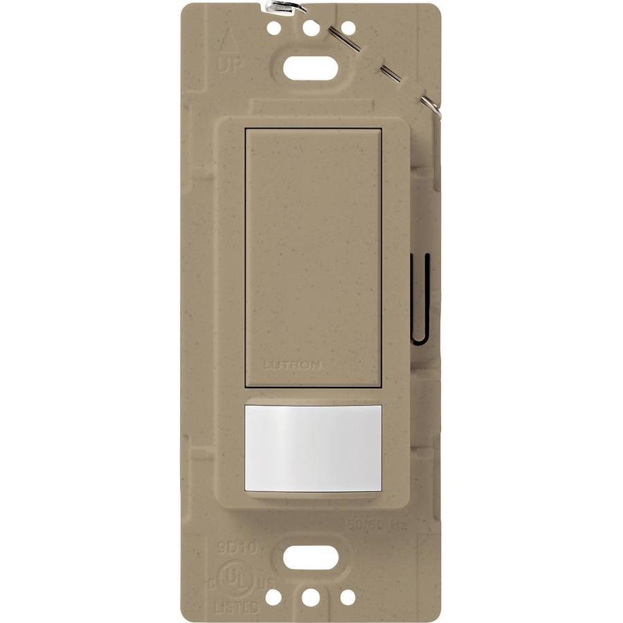 Shop Lutron Maestro 2 Amp Single Pole Mocha Stone Indoor Motion Occupancy Vacancy Sensor At