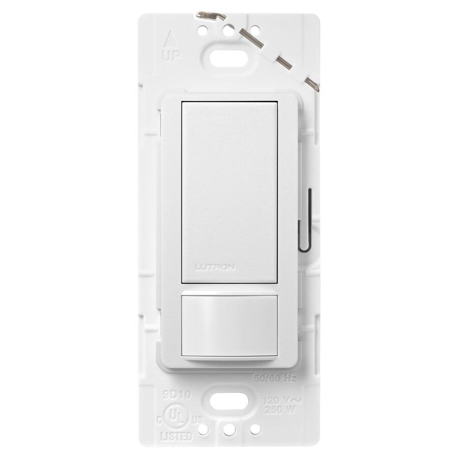 Lutron Maestro 2-Amp Single Pole Snow Indoor Motion Occupancy/Vacancy Sensor