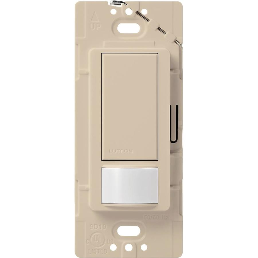 Shop Lutron Maestro 1 Switch 2 Amp Single Pole Taupe Indoor Motion Occupancy Vacancy Sensor At