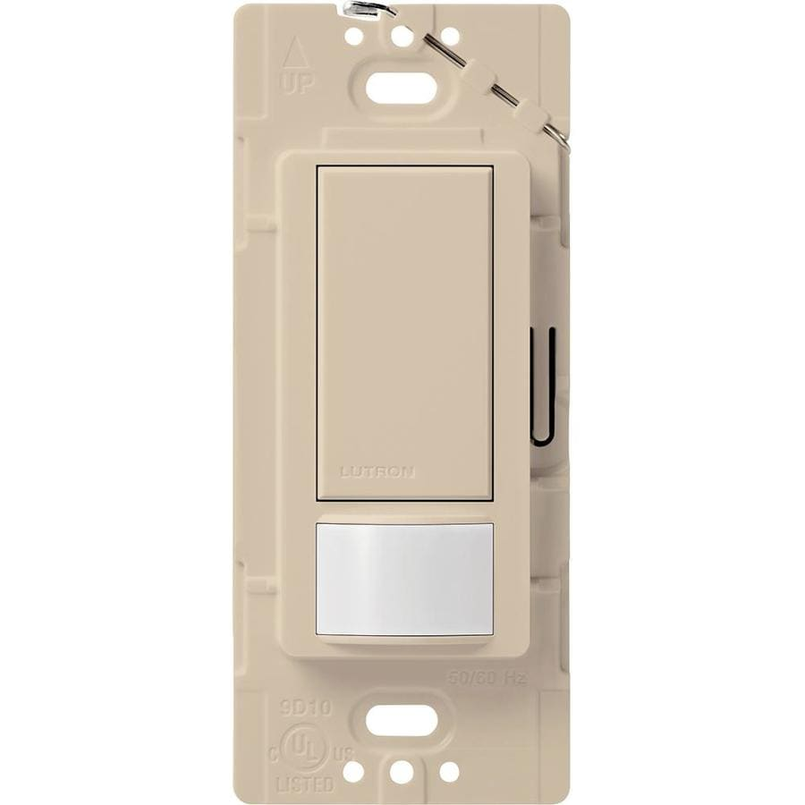 Shop lutron maestro 1 switch 2 amp single pole taupe indoor motion occupancy vacancy sensor at for Interior motion sensor light switches