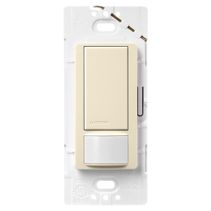 Lutron Maestro 5-Amp 3-Way Double Pole Almond Indoor Motion Occupancy/Vacancy Sensor