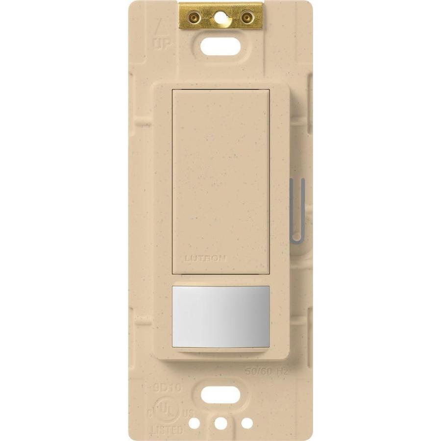 Lutron Maestro 5-Amp 3-Way Double Pole Desert Stone Indoor Motion Occupancy/Vacancy Sensor
