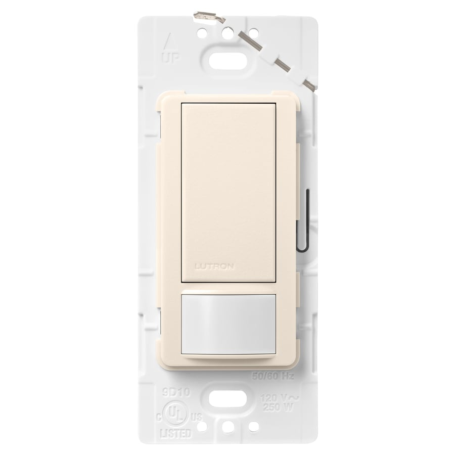 Lutron Maestro 5-Amp 3-Way Double Pole Eggshell Indoor Motion Occupancy/Vacancy Sensor