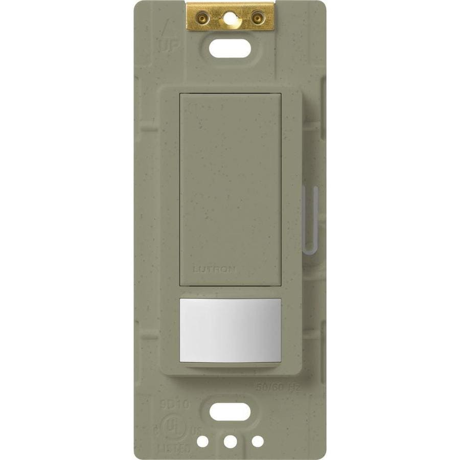Shop lutron maestro 1 switch 5 amp 3 way double pole greenbriar indoor motion occupancy vacancy for Interior motion sensor light switches