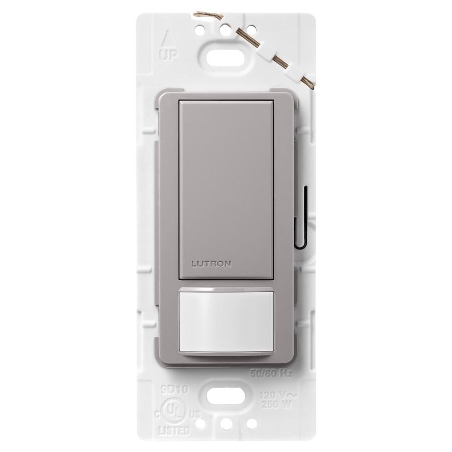 Lutron Maestro 5-Amp 3-Way Double Pole Gray Indoor Motion Occupancy/Vacancy Sensor