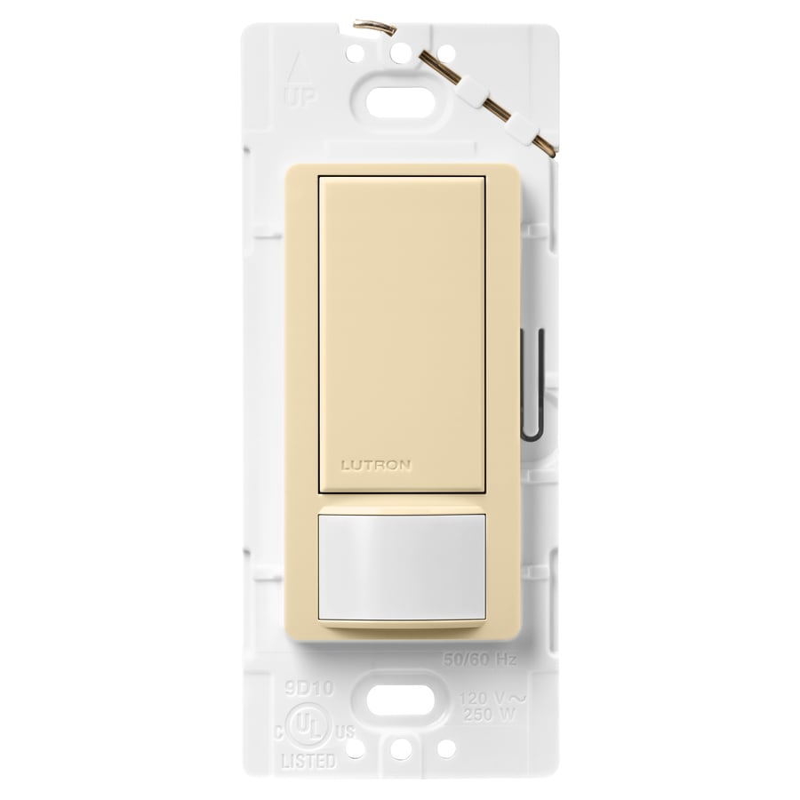 Lutron Maestro 5-Amp 3-Way Double Pole Ivory Indoor Motion Occupancy/Vacancy Sensor