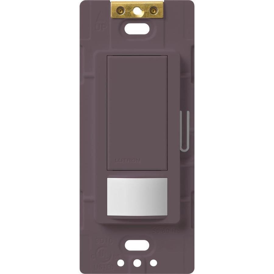 Lutron Maestro 5-Amp 3-Way Double Pole Plum Indoor Motion Occupancy/Vacancy Sensor