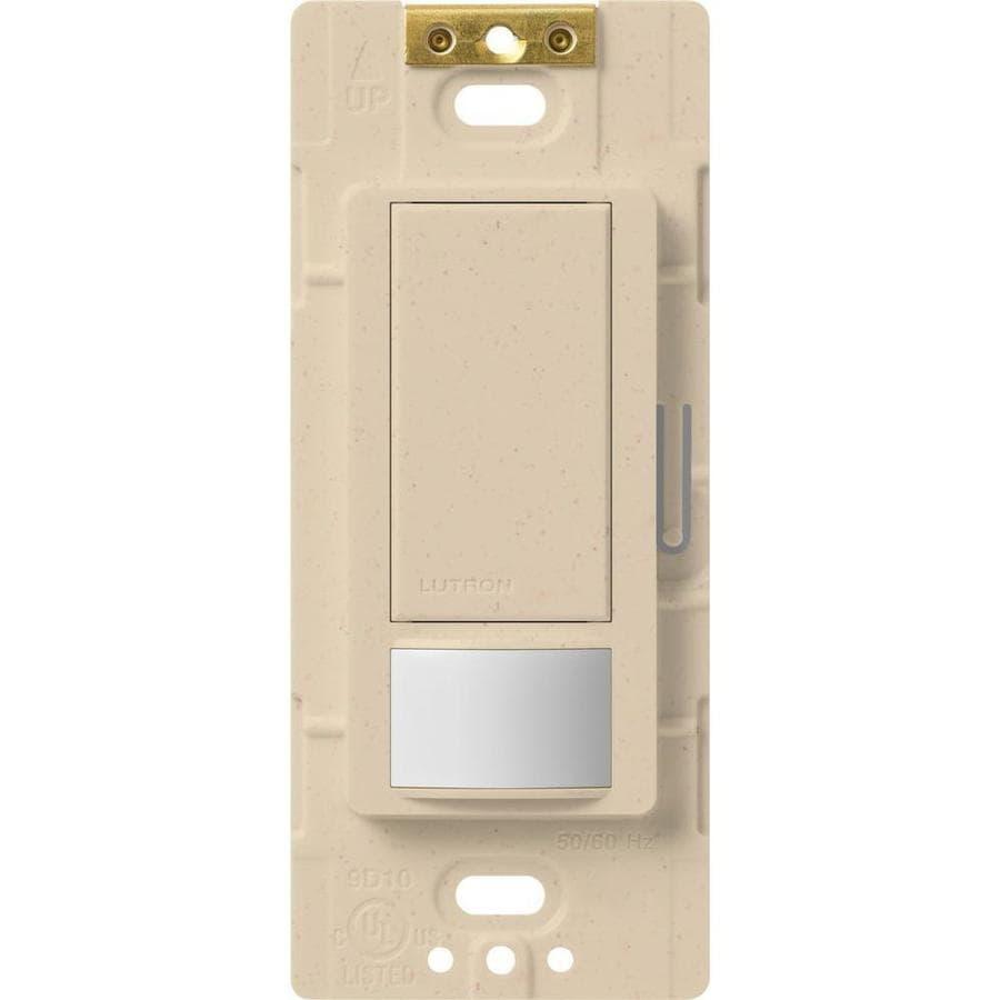 Lutron Maestro 5-Amp 3-Way Double Pole Stone Indoor Motion Occupancy/Vacancy Sensor
