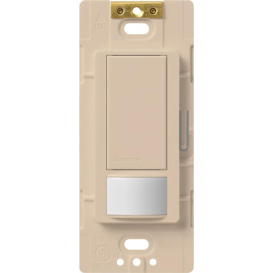 Lutron Maestro 5-Amp 3-Way Double Pole Taupe Indoor Motion Occupancy/Vacancy Sensor