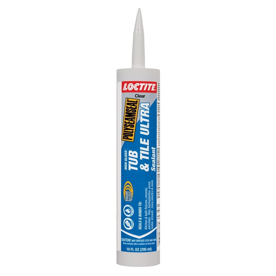 LOCTITE Polyseamseal 10-oz Clear Paintable Tub and Tile Latex Kitchen and Bathroom Caulk