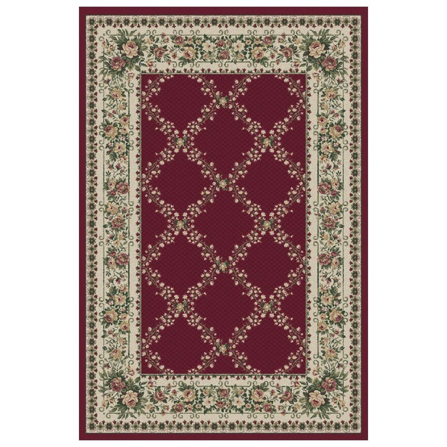 Orian Rugs Kennedy 5-ft 3-in x 7-ft 6-in Rectangular Red Floral Area Rug