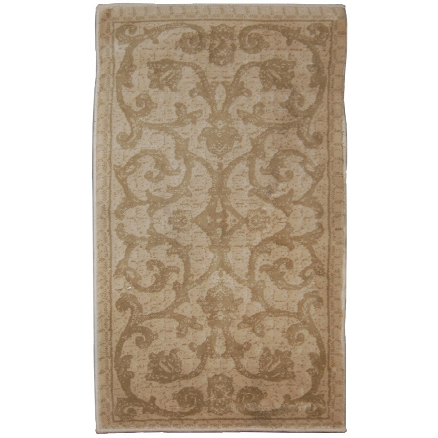 Orian Rugs Iron Gate Brown Rectangular Indoor Woven Throw Rug (Common: 2 x 3; Actual: 23-in W x 39-in L)