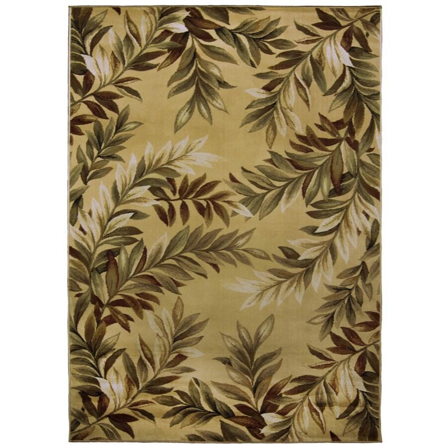 allen + roth Breezy Cream Rectangular Indoor Woven Nature Area Rug (Common: 5 x 8; Actual: 63-in W x 90-in L)