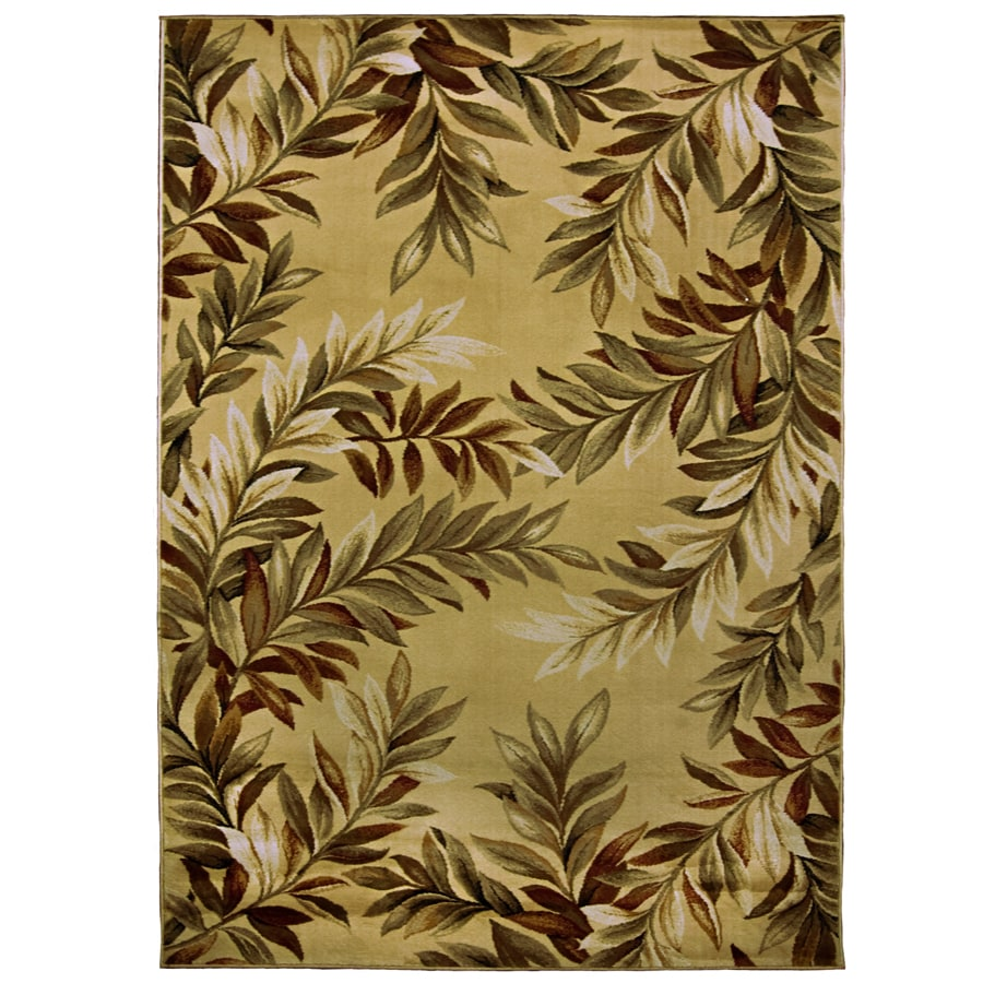 Shop allen + roth Breezy Cream Rectangular Indoor Woven Nature Area Rug (Common: 8 x 11; Actual ...