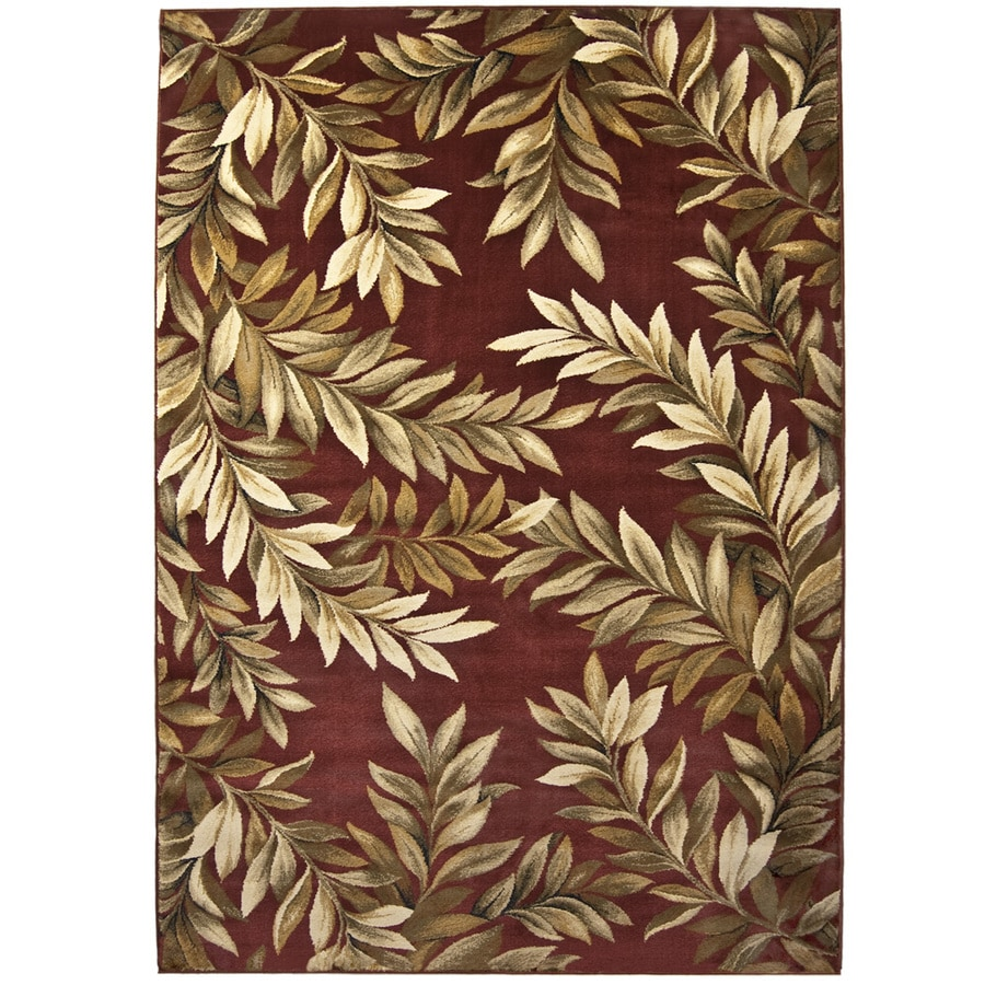 allen + roth Breezy Red Rectangular Indoor Woven Nature Area Rug (Common: 8 x 11; Actual: 94-in W x 130-in L)