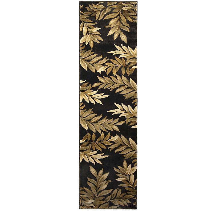 allen + roth Breezy Black Rectangular Indoor Woven Nature Runner (Common: 2 x 8; Actual: 23-in W x 89-in L)