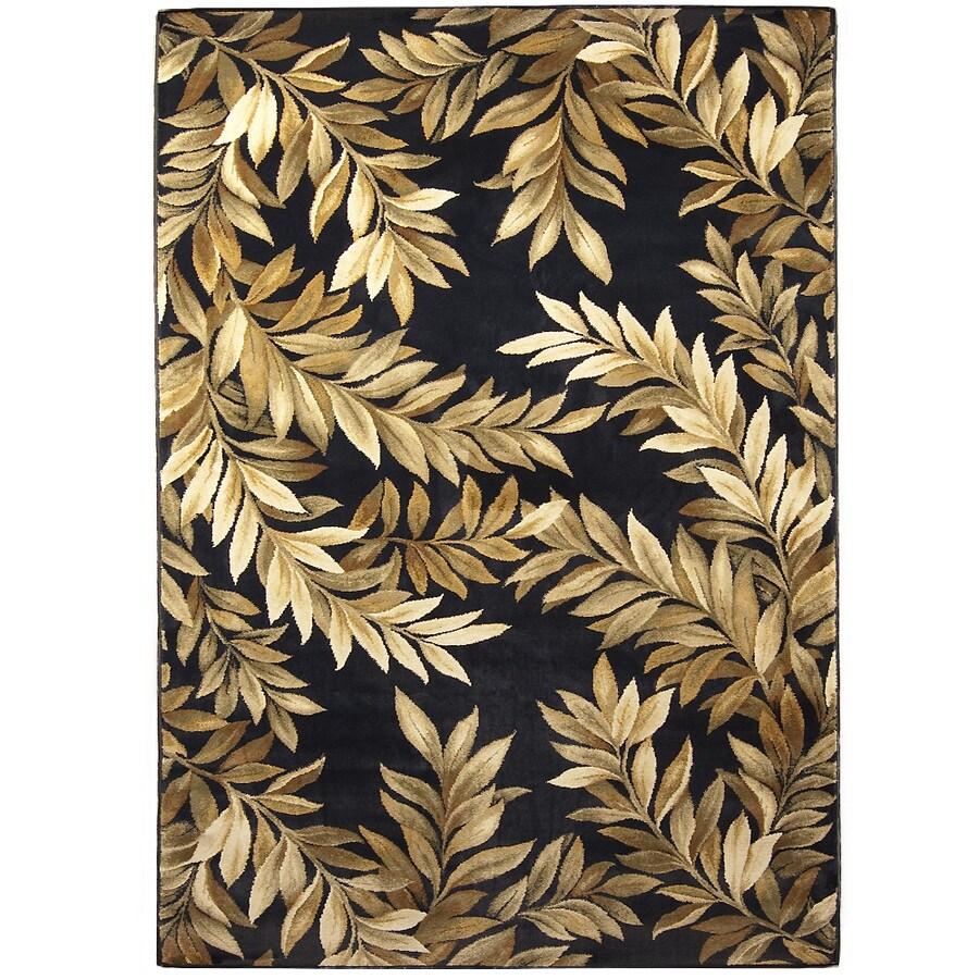 allen + roth Breezy Black Rectangular Indoor Woven Nature Area Rug (Common: 5 x 8; Actual: 63-in W x 90-in L)