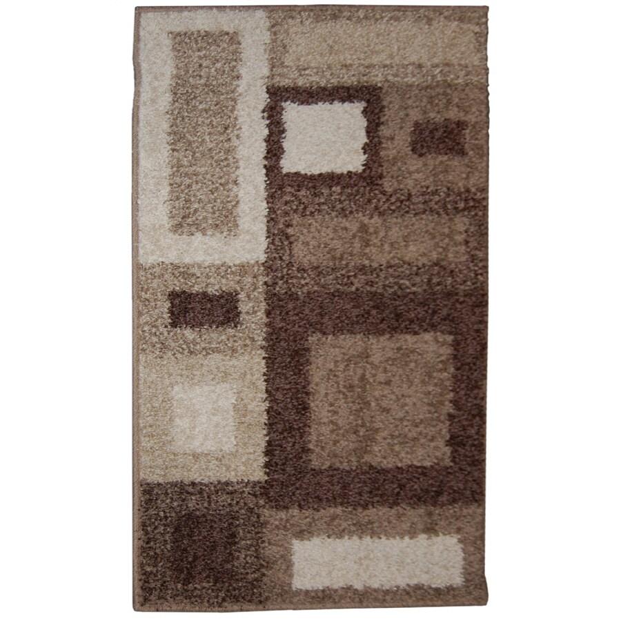 Orian Rugs City Blocks Cream Rectangular Indoor Woven Throw Rug (Common: 2 x 3; Actual: 23-in W x 39-in L)