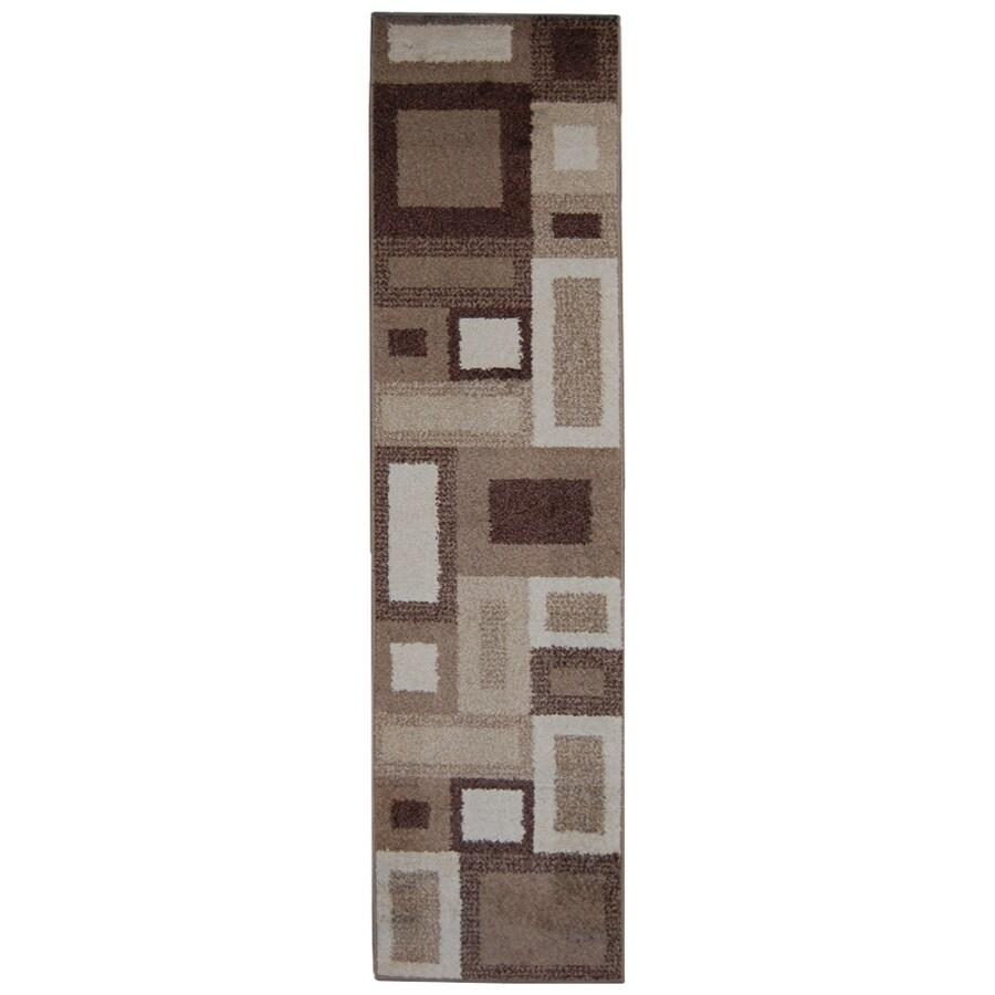 Orian Rugs City Blocks Cream Rectangular Indoor Woven Runner (Common: 2 x 8; Actual: 23-in W x 89-in L)