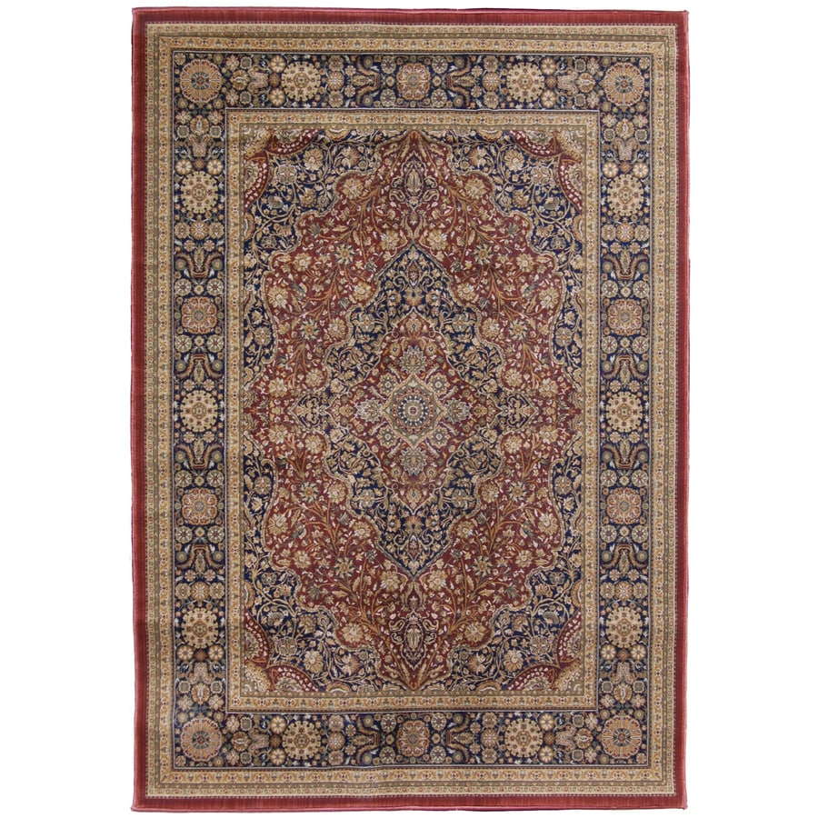 Orian Rugs Medallion Kashan Rectangular Red Floral Area Rug (Common: 5-ft x 8-ft; Actual: 5-ft 3-in x 7-ft 6-in)