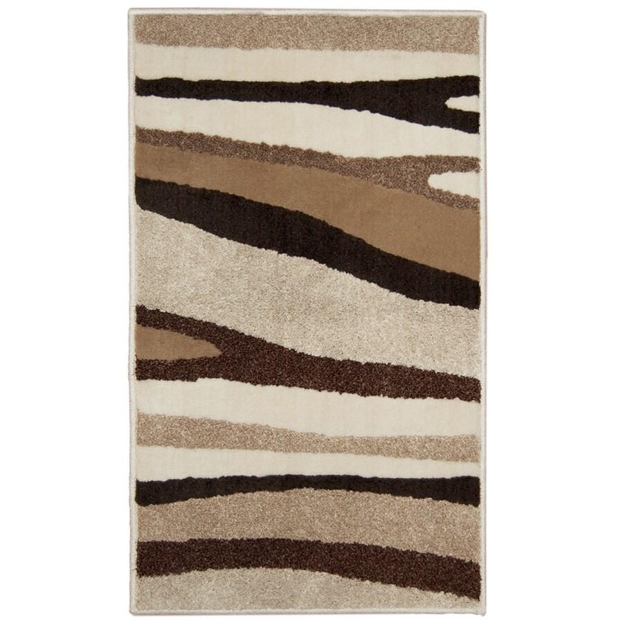 Orian Rugs Laffatie Cream Rectangular Indoor Woven Throw Rug (Common: 2 x 3; Actual: 23-in W x 39-in L)