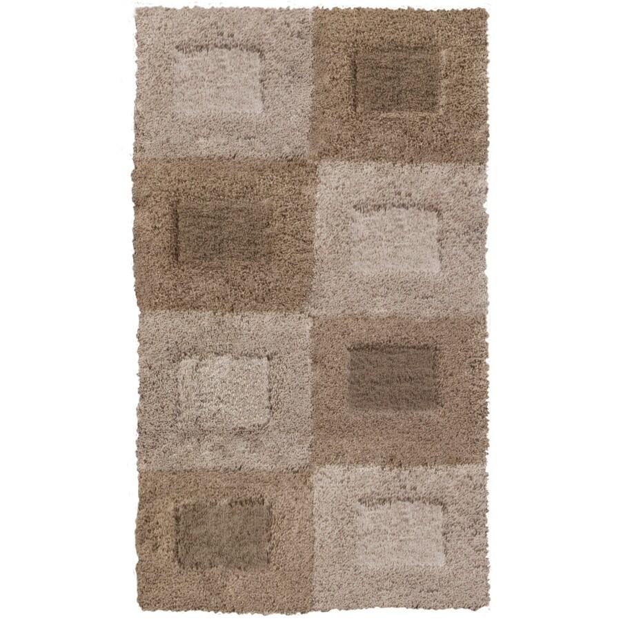 allen + roth Carnegie Beige Rectangular Indoor Woven Throw Rug (Common: 2 x 3; Actual: 23-in W x 39-in L)