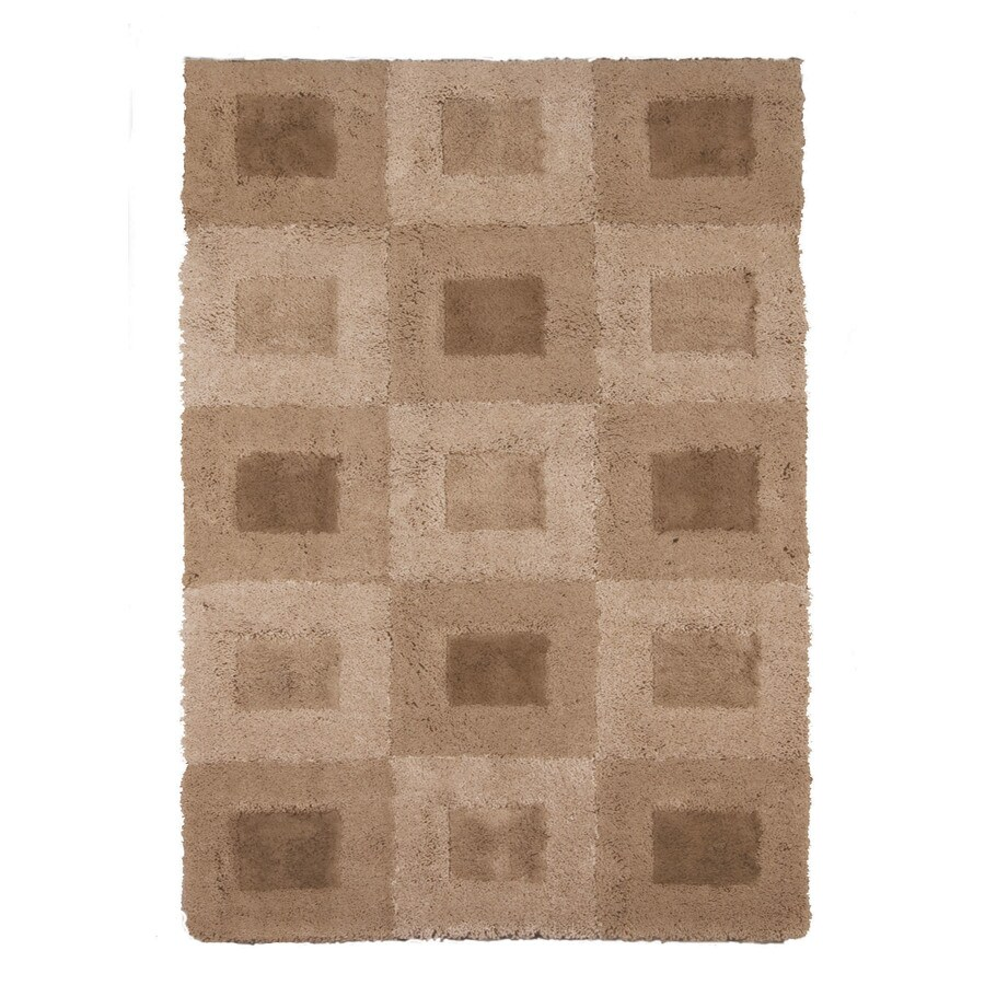 allen + roth Carnegie Beige Rectangular Indoor Woven Area Rug (Common: 8 x 10; Actual: 94-in W x 120-in L)