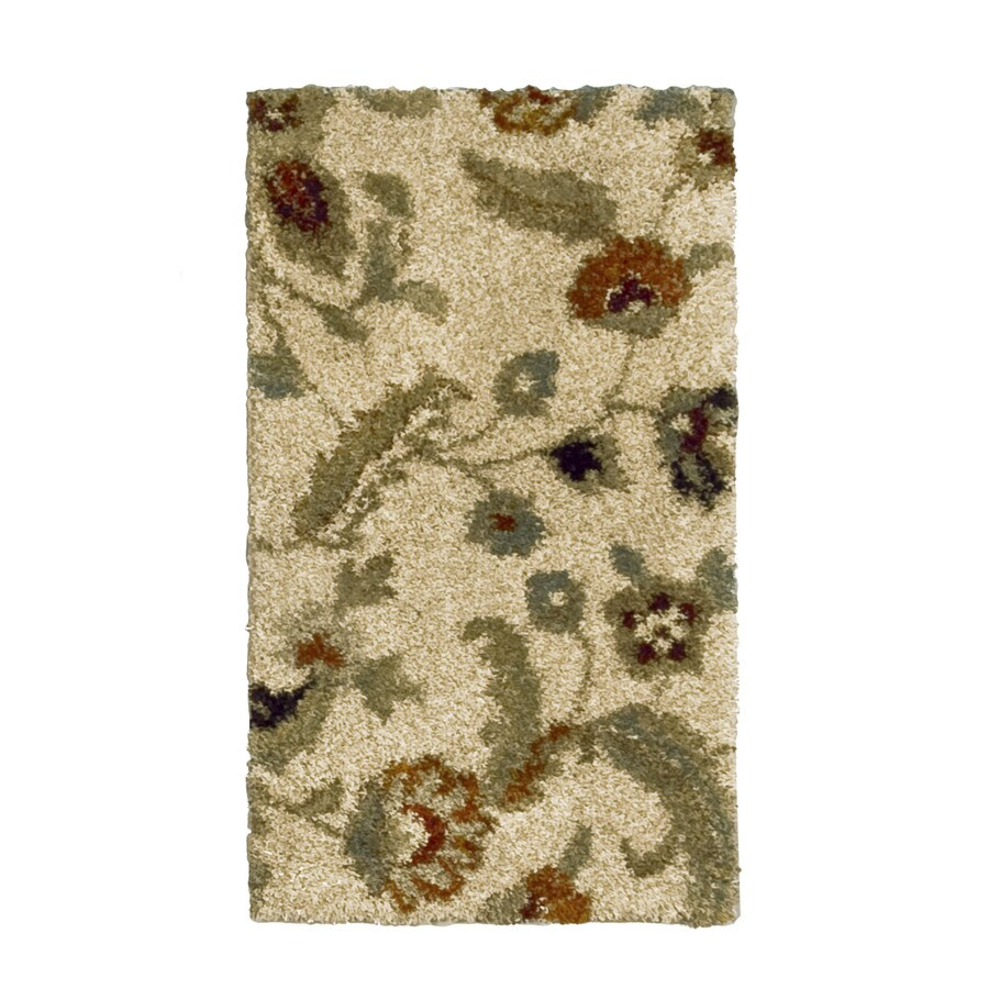Orian Rugs Cliffony Cream Rectangular Indoor Woven Throw Rug (Common: 2 x 4; Actual: 23-in W x 39-in L)