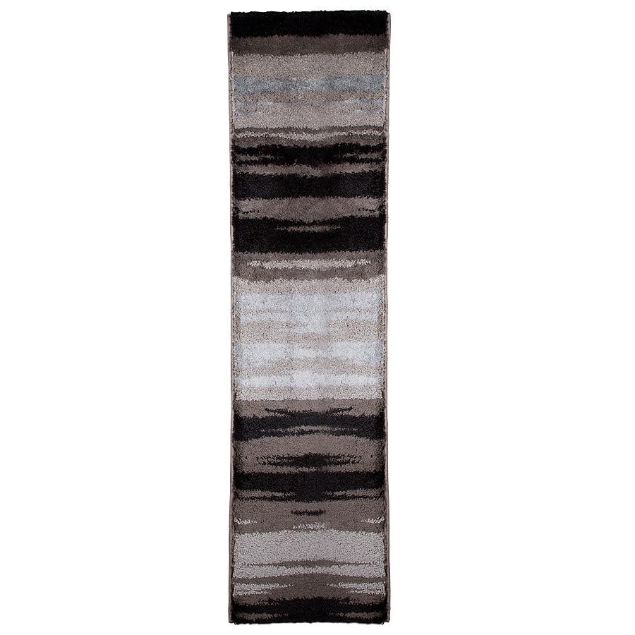 Orian Rugs Kyoto Black Rectangular Indoor Woven Runner (Common: 2 x 8; Actual: 23-in W x 89-in L)