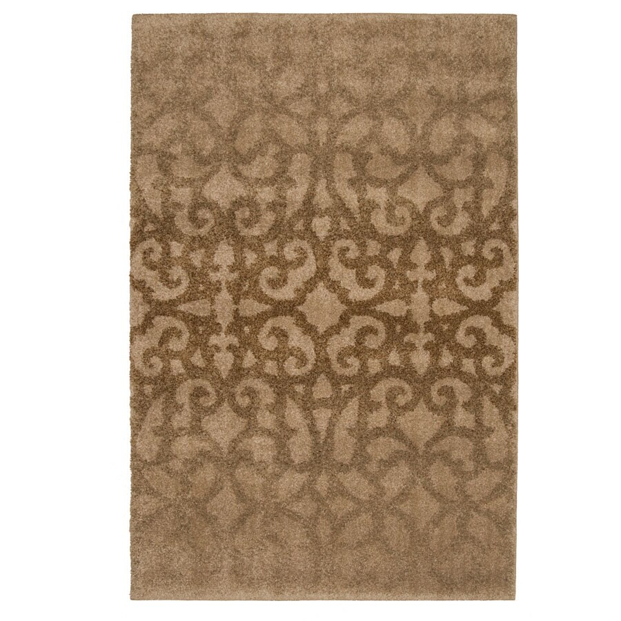 allen + roth Bastille Bisque Rectangular Indoor Woven Area Rug (Common: 5 x 8; Actual: 63-in W x 90-in L)