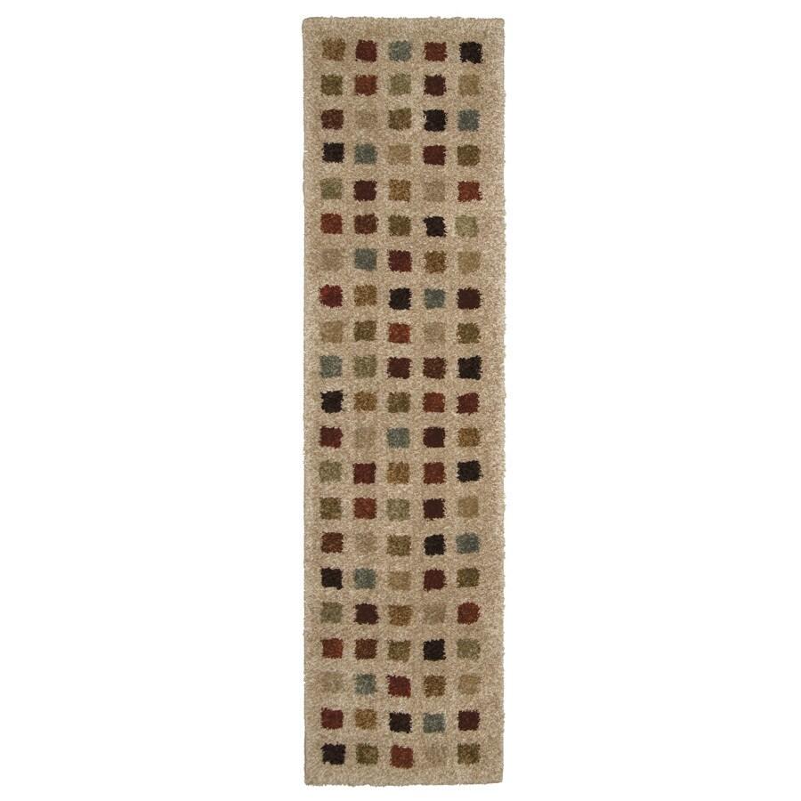 Orian Rugs Uptown Bisque Rectangular Indoor Woven Runner (Common: 2 x 8; Actual: 23-in W x 89-in L)