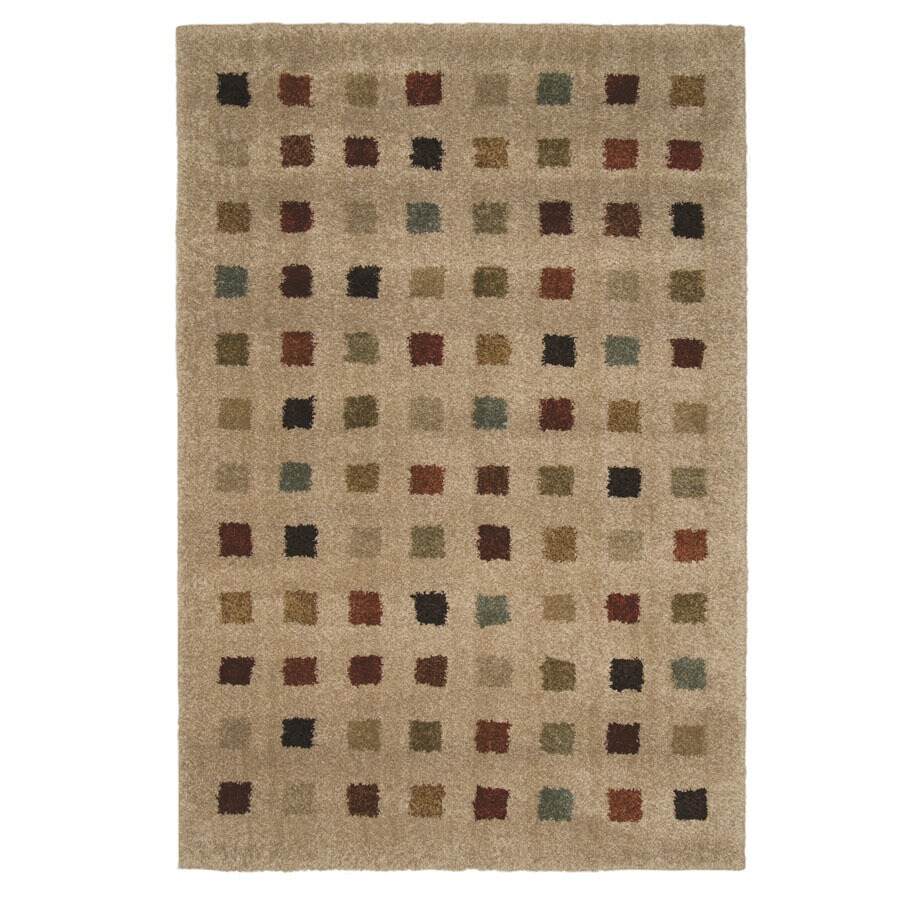 Orian Rugs Uptown Bisque Rectangular Indoor Woven Area Rug (Common: 5 x 8; Actual: 63-in W x 90-in L)