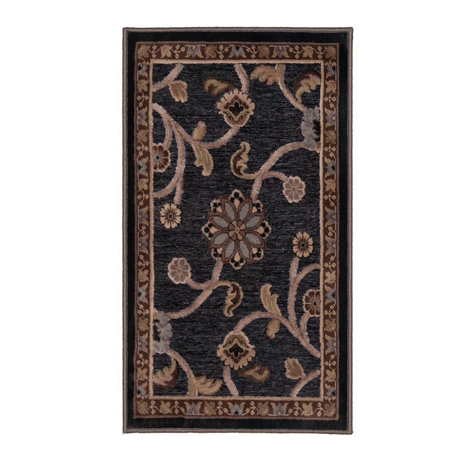Orian Rugs Alana Gray Rectangular Indoor Woven Throw Rug (Common: 2 x 3; Actual: 22-in W x 39-in L)