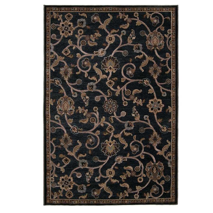 Orian Rugs Hudson 9-ft 8-in x 13-ft 1-in Rectangular Gray Floral Area Rug