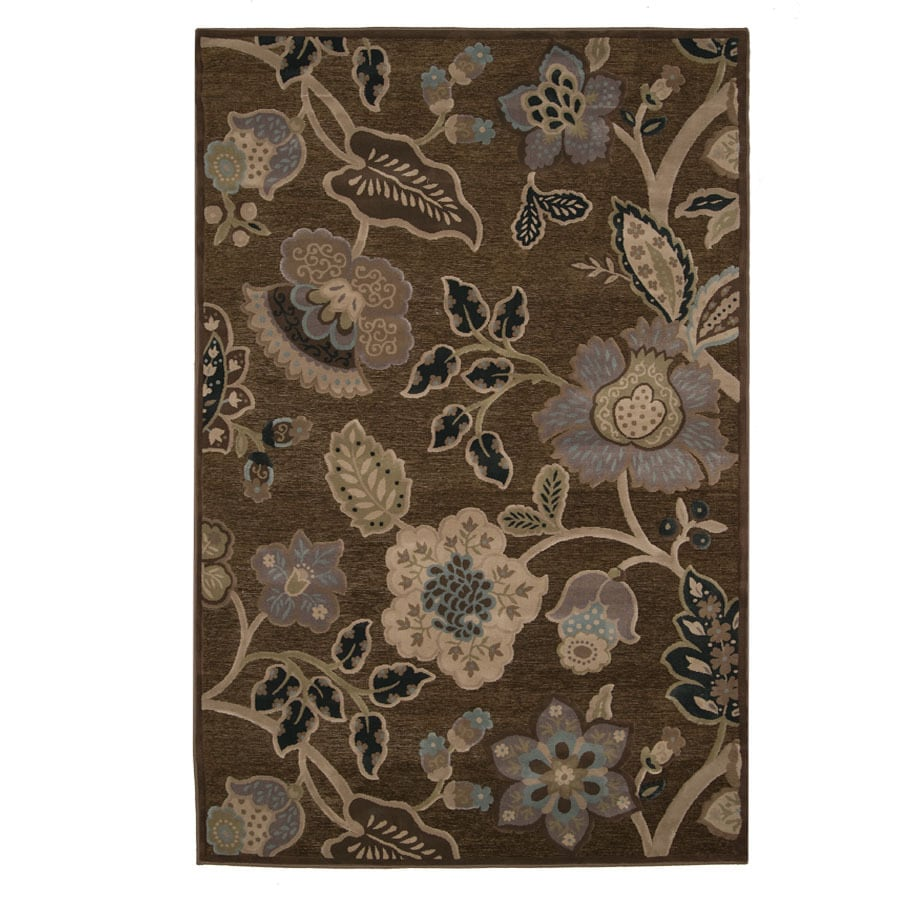 Orian Rugs Hudson 46-in x 5-ft 5-in Rectangular Tan Floral Area Rug