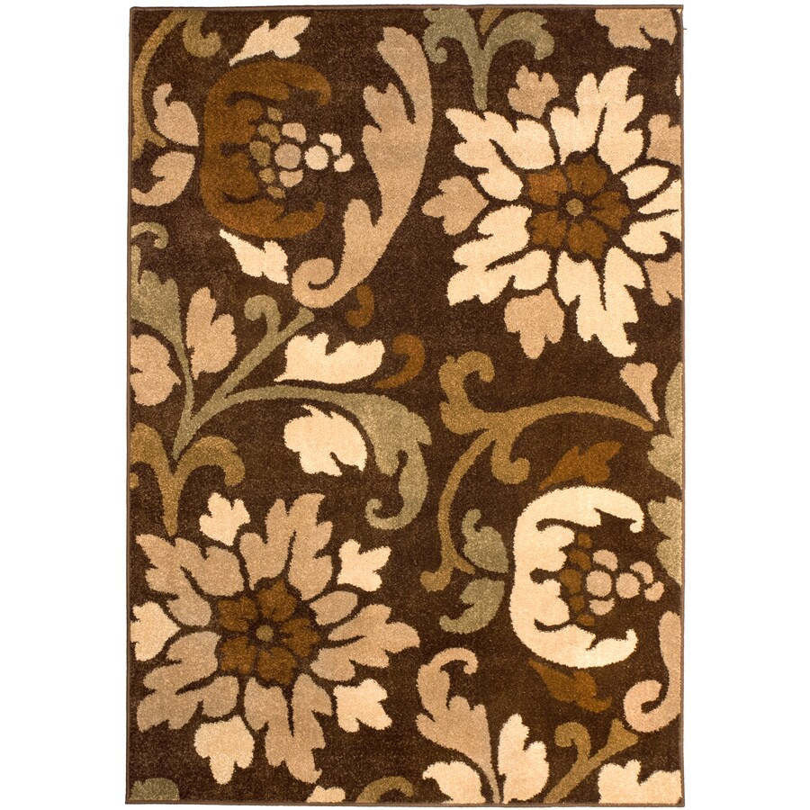 Orian Rugs Bristle Cafe Rectangular Indoor Woven Area Rug (Common: 8 x 10; Actual: 94-in W x 120-in L)