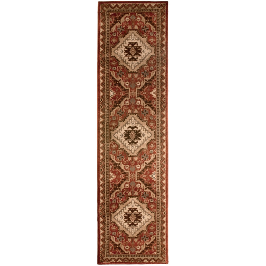 Orian Rugs Kendrick Brick Rectangular Indoor Woven Runner (Common: 2 x 8; Actual: 23-in W x 89-in L)